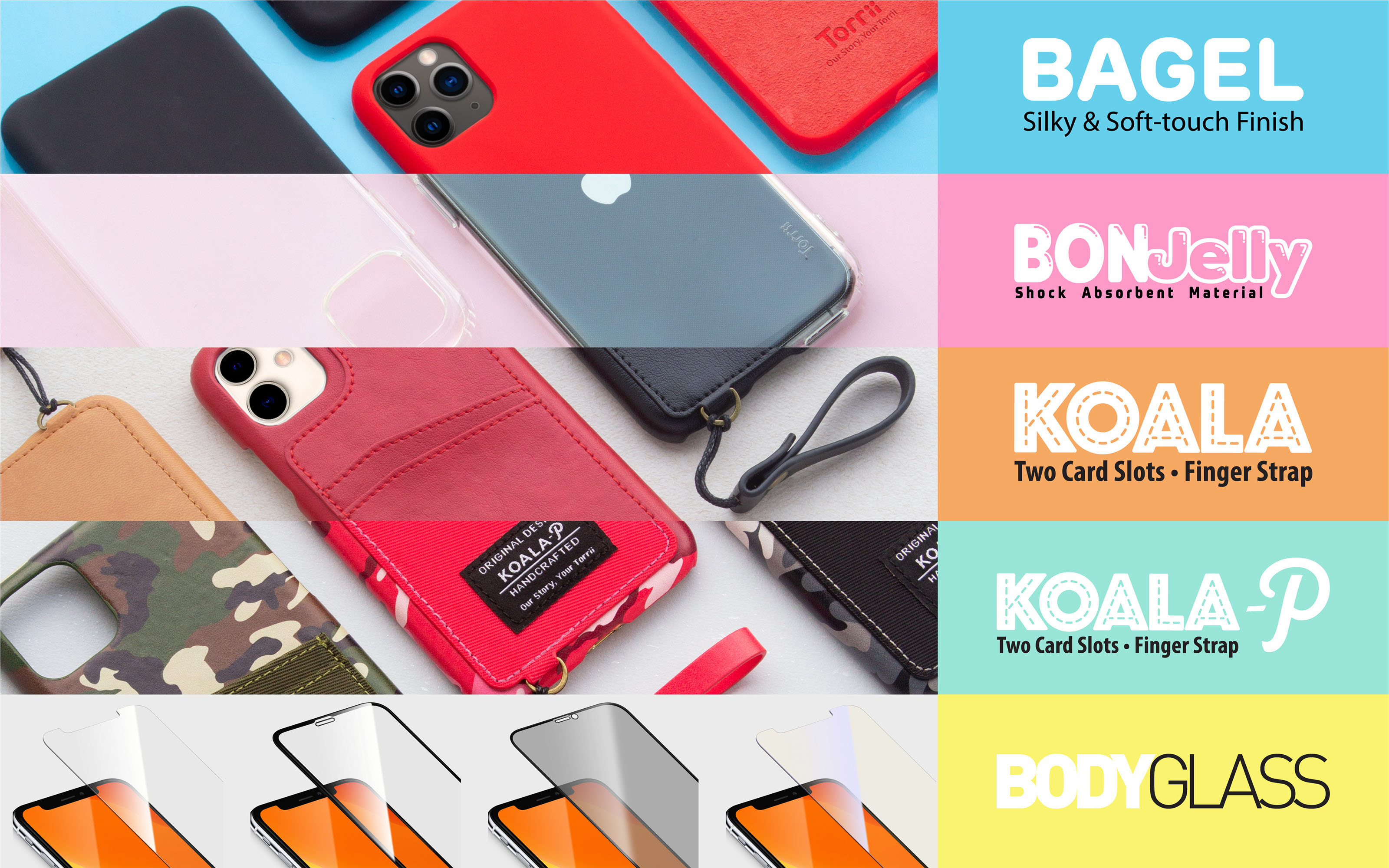 Torrii introduces new line of cases for iPhone 11, iPhone 11 Pro and iPhone 11 Pro Max.