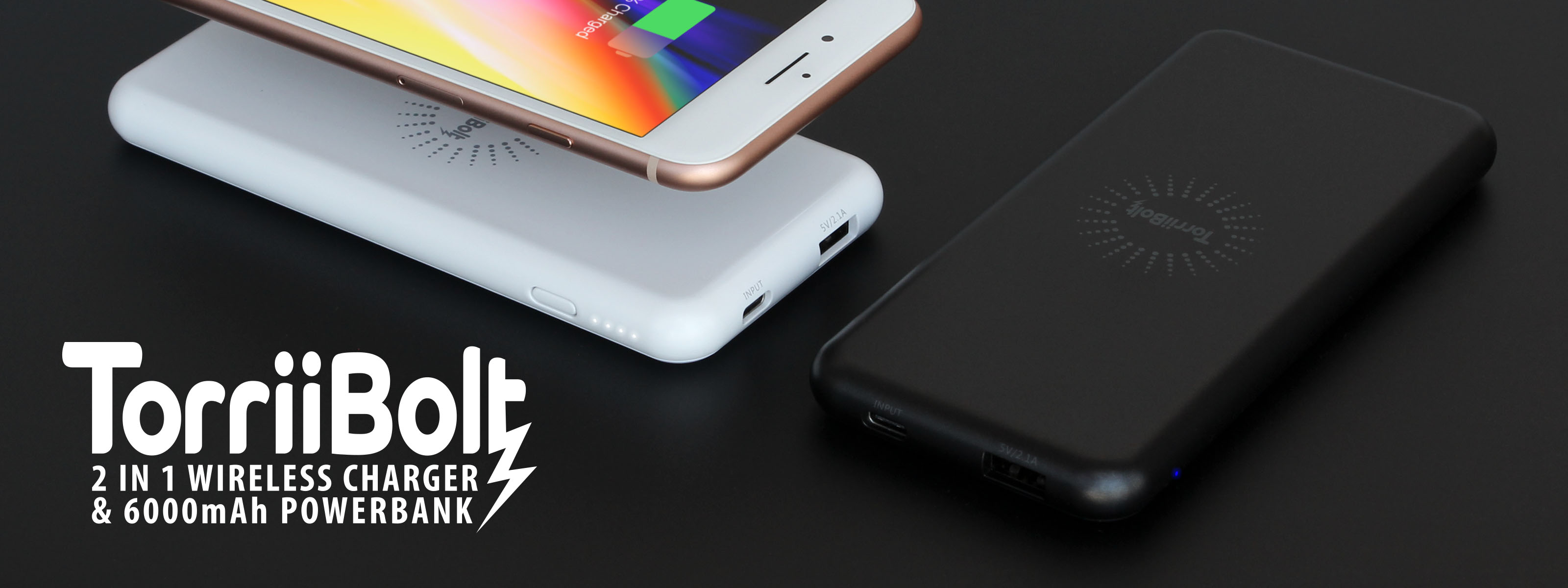 Torrii introduces TorriiBolt 2 in 1 Wireless Charger & 6000mAh Powerbank